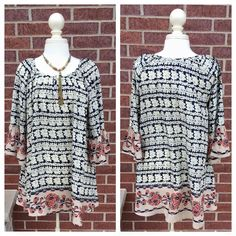 Oh beautiful Spring blouse, how we cherish you…but are willing to let you go! S-XL, $54.00