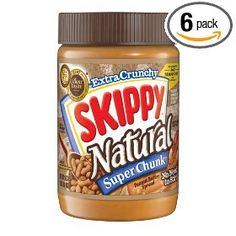 Skippy Natural Peanut Butter.  Made without soybean oil unlike most peanut butters.  I like the chunky version best.