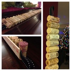 This vertical cork board is made from 43 corks, a yardstick, a few inches of grosgrain ribbon and hot glue. Super easy. Mine is made from #PureMichigan wine corks from 21 wineries in the Traverse City area.