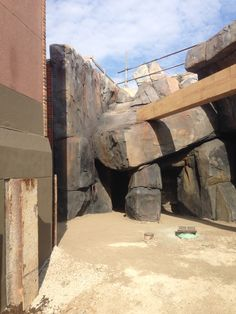 Hand carved shotcrete to resemble natural rock formations