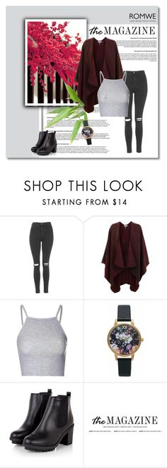 """""""#30"""" by abecic3 ❤ liked on Polyvore featuring Topshop, Miss Selfridge, Glamorous and Olivia Burton"""