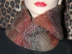 Hand made knitted womens cowl hood infinity scarf neck warmer snood shawl