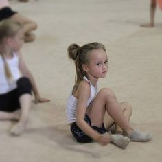 A little Angel on the gymnastics floor !