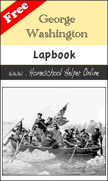 Homeschool Helper Online's George Washington Lapbook