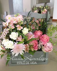 Canasta diseño de flores Iliana Ruizvelasco
