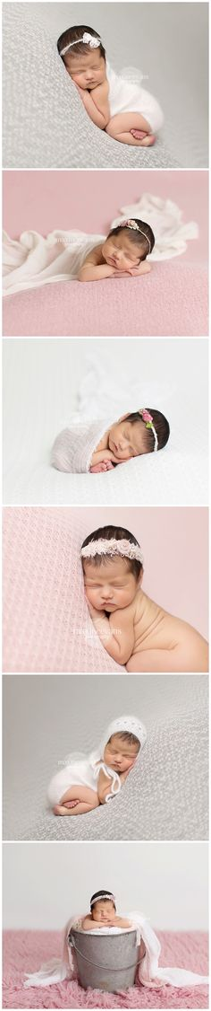 Newborn in Pink and Grey Maxine Evans Photography www.maxineevansphotography.com