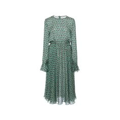 Philosophy di Lorenzo Serafini (3 575 PLN) ❤ liked on Polyvore featuring dresses, green sheath dress, long sleeve dress, green long sleeve dress, sheath dress and green dress