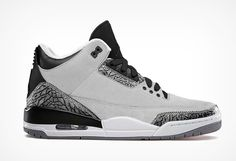 Authentic Jordan Retro Wolf Grey 3s  For Sale Online Free Shipping http://www.theblueretro.com/