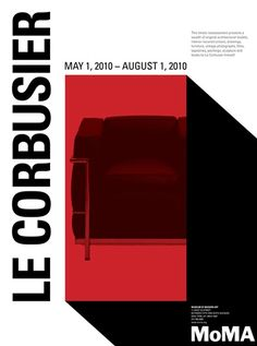 graphic design and poster layout in black and red | typography / graphic design: MoMa Museum of modern art |
