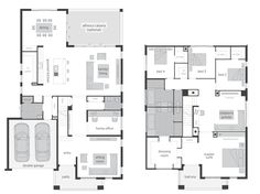 Tallavera 45 Two Storey Home - Floor plan. The Tallavera celebrates the magic formula for exceptional, modern family living over two breathtaking levels. This home genuinely understands your family's daily needs and confidently responds with the perfect interplay between spaces for privacy and areas for sharing and gathering. #twostorey #twostoreyhome #mcdonaldjones #mcdonaldjoneshomes #newhome