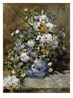 Spring Bouquet Giclee Print by Pierre-Auguste Renoir at Art.com