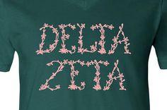 Delta Zeta Floral Letters Logo by CampusLettering on Etsy