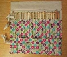 Sew an awesome holder for all your knitting needles and crochet hooks in this great tutorial!