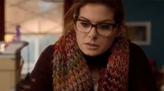 Debra Messing wearing Face a Face Shade 2 Eyeglasses in The Mysteries of Laura - LuxuryEyesite.com