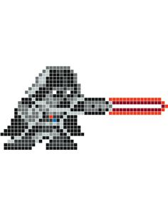 Darth Vader Cross Stitch Chart or Hama Perler Bead Pattern