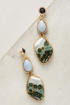 Slide View: 1: Angelite Jasper Drop Earrings