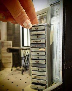 "1,172 gilla-markeringar, 10 kommentarer - N original (@n_original_dh) på Instagram: ""miniature cabinet. #miniature #handmade #antique #ミニチュア #ハンドメイド #キャビネット #アンティークショップ"""