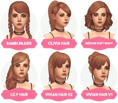 Aveira Sims 4: Clay Hair Recolors Updated - Sims 4 Hairs - http://sims4hairs.com/aveira-sims-4-clay-hair-recolors-updated/