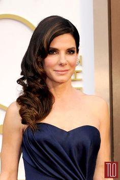 Blue eyeliner! Oscars 2014: Sandra Bullock in Alexander McQueen | Tom & Lorenzo Fabulous & Opinionated