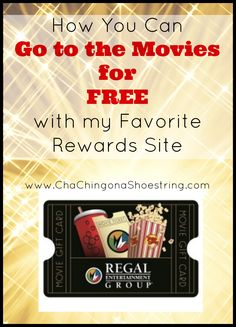 I love going to the movies, but I HATE paying for them. Here's how to score FREE movie tickets every month with my favorite rewards site!