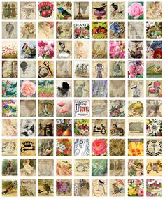 digital collage sheets for paper crafts, 90 different images for scrabble tiles, .75 inches  by .83 inches  --  no. 315. $3.50, via Etsy.