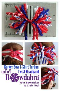 Adorable Fun Patriotic Korker Bow Turban Headband for Memorial Day. Create perfect & beautiful headbands & hair accessories for kids available in Turban styles, designs & red, white and blue colors using Mini Bowdabra tool. Twist Headband, Turban Headbands, Headband Hairstyles, Diy Hairstyles, Making Hair Bows, Diy Hair Bows, Bow Board, Homemade Bows, Craft Tutorials