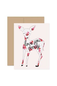 Give a sweet Valentine to your little Deer! Individual Card - size when folded - Blank inside - Hand Illustrated Pattern on the Back - Comes with a Kraft Envelope - Designed & printed in the USA View the rest of our Gingiber Cards: Valentines Card Design, Valentine Crafts, Valentine Ideas, Crafts To Do, Arts And Crafts, Paper Crafts, Unicorn Pillow, Valentine's Cards For Kids, Christmas Stationery