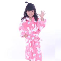 Kid Bathrobes Coral Bath robe Fleece Cartoon Bath Robes Child Boy Girl Sleepwear #MMY #Robe
