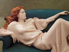 """Fire Starters"" Florence Welch in Lanvin for Vogue US August 2014 by Annie Leibovitz"