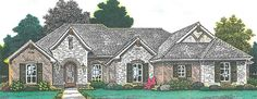 European House Plan with 2139 Square Feet and 4 Bedrooms from Dream Home Source | House Plan Code DHSW076867