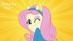 Thanks for being kind Fluttershy kindness quote MLP