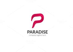 Paradise Letter P Logo by XpertgraphicD on Creative Market