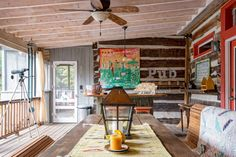 farmhouse wooden deck
