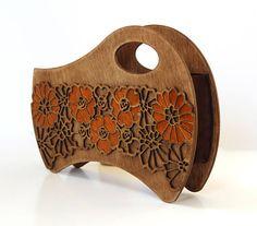 NEW ARRIVAL   great gift Wooden bag wooden handle bag