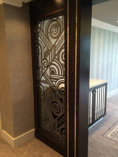 Laser cut screen Art Deco style. Bovey Castle Luxury Golf and Spa. Devon England Screen by Miles and Lincoln