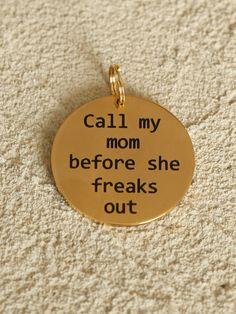 Altar'd State Call My Mom Dog Tag - Gifts;Home Decor