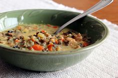 Minnesota Wild Rice Soup--yum!  Just took my chicken out of the freezer to make this today!  :)