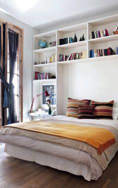 Build Bookcase Around Bed?