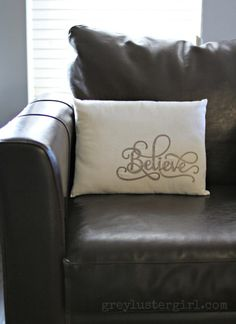 Leather Embellished Pillow