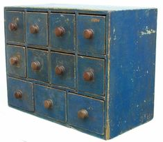 Blue apothecary from Country Treasures