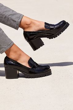 Details about  /Women Leather Tassels  Chunky Mid Heel Shoes Strap Buckle Loafers Slip On Shoes