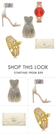 """Untitled #5480"" by brittklein ❤ liked on Polyvore featuring Jovani, Stuart Weitzman, Gucci, BERRICLE and Marc by Marc Jacobs"