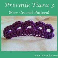 Preemie Tiara 3 {Free Crochet Pattern}