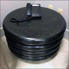 Hockey-Puck Hospitality Table Amenity