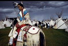 American Indian Beauty Pageant winner Acosia Red Elk waits for a parade at the teepee village, a part fo the Pendleton Round-Up rodeo since its 1910 inception.