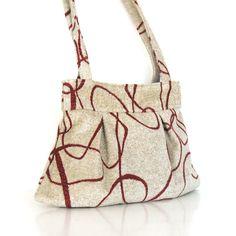 Gift for her  Vegan fabric purse  handmade handbag   by Sisoibags