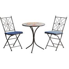 Whitman 3 Piece Bistro Set with Cushions