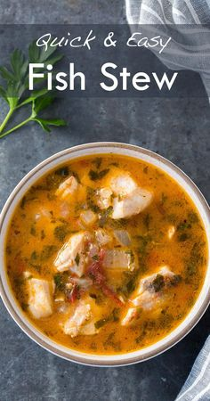 Quick, easy, and absolutely delicious fish stew! Fresh fish fillets cooked in a stew with onions, garlic, parsley, tomato, clam juice and white wine.… Tap the link now to find the hottest products for your kitche