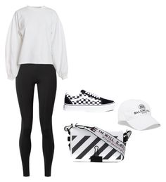 """""""Untitled #46"""" by angeline-mewengkang on Polyvore featuring The Row, NLY Trend, Vans, Off-White and Balenciaga"""