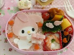 My melody with gift box bento